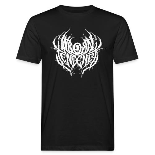 Logo, valkoinen - Miesten luonnonmukainen t-paita
