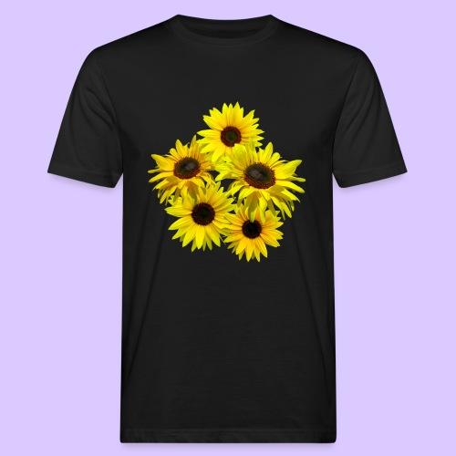 Sonnenblumenstrauss, Sonnenblume, Sonnenblumen - Männer Bio-T-Shirt