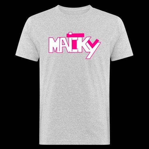 MaickyTv Pink - Männer Bio-T-Shirt