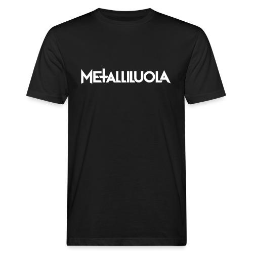 Metalliluola logo - Miesten luonnonmukainen t-paita