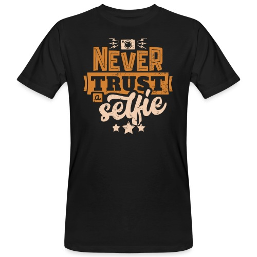 Never trust - Ekologisk T-shirt herr
