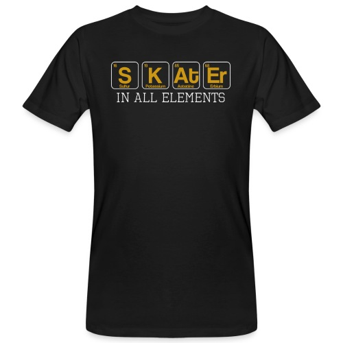 Skater In All Elements Periodic Table Science - Männer Bio-T-Shirt