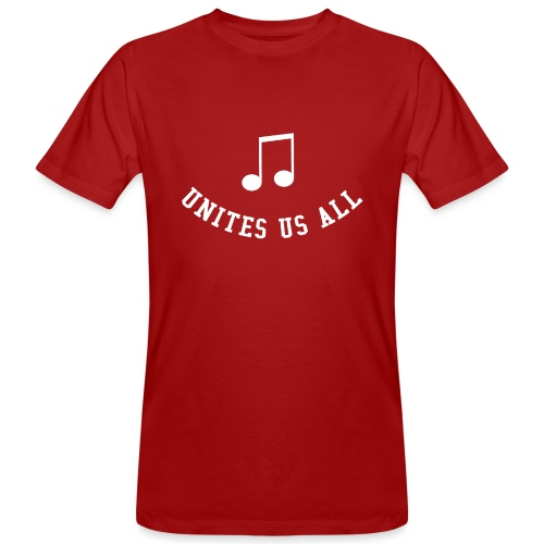 Music Unites Us All Shirt - Men's Organic T-Shirt