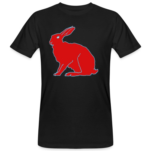 Roter Hase - Männer Bio-T-Shirt