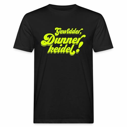 Gewidder Dunnerkeidel - Männer Bio-T-Shirt