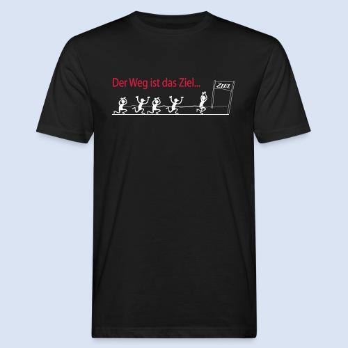 Der Weg ist das Ziel - Marathon - Männer Bio-T-Shirt