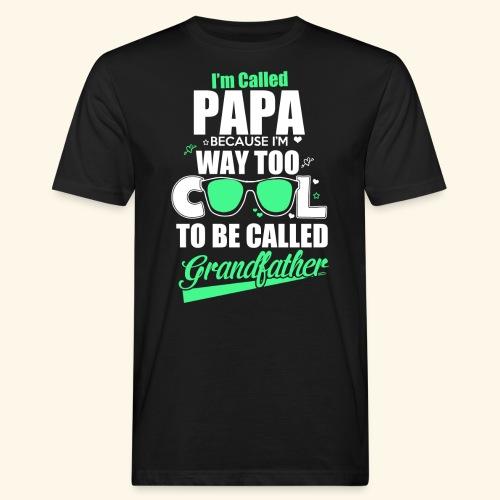 Cooles Papa Opa Grandfather T-Shirt Englisch - Männer Bio-T-Shirt