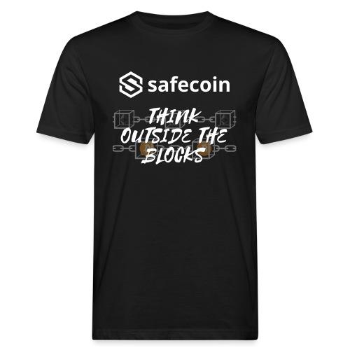 Safecoin Think Outside the Blocks (white) - Men's Organic T-Shirt