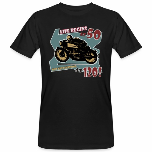 Life begins at 50 - Men's Organic T-Shirt