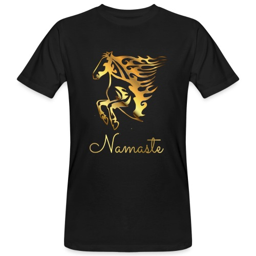 Namaste Horse On Fire - Männer Bio-T-Shirt