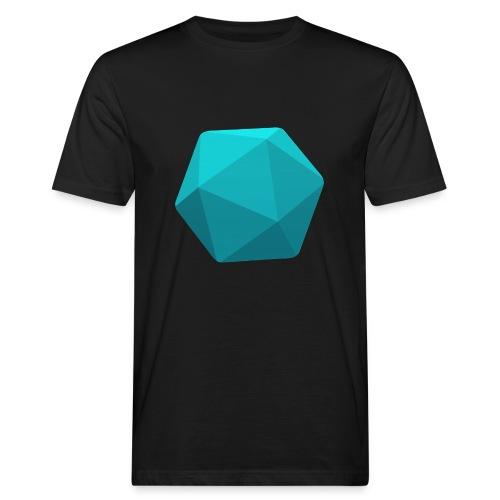 Blue d20 - D&D Dungeons and dragons dnd - Miesten luonnonmukainen t-paita