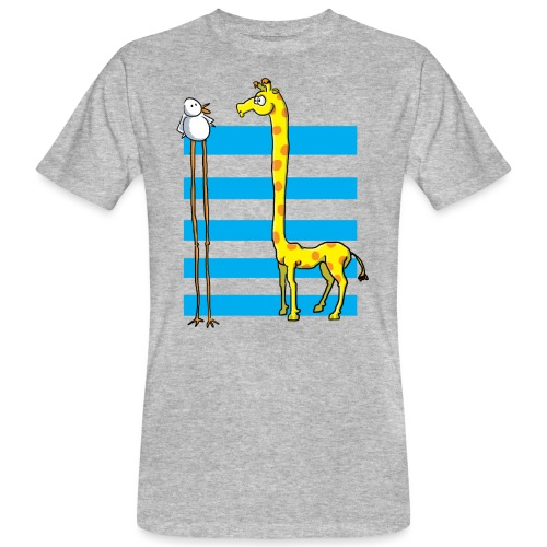 La girafe et l'échassier - T-shirt bio Homme
