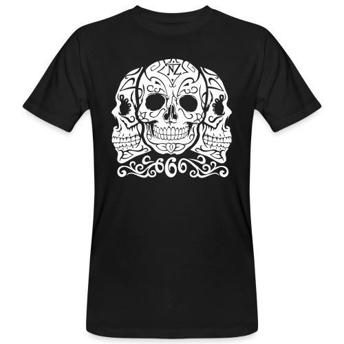 Skull Dia de los muertos - T-shirt bio Homme
