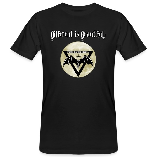 Different is Beautiful with Moon WGM Logo - Men's Organic T-Shirt