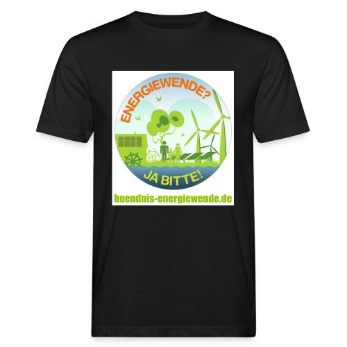 Buendnis Energiewende Button 1 png - Männer Bio-T-Shirt