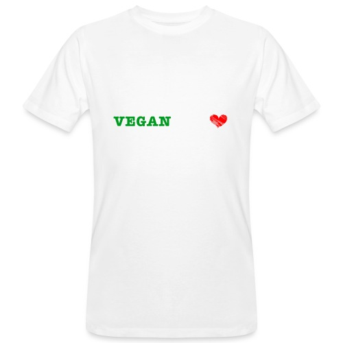 be my VEGANtine - white - Men's Organic T-Shirt