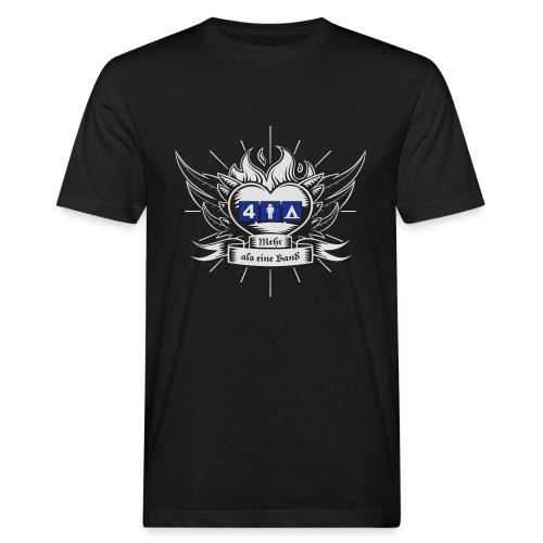 Viermannzelt T-Shirt_2016_weiss-blau - Männer Bio-T-Shirt
