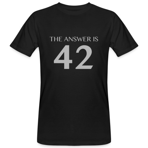 The Answer is 42 Grey 180 png - Men's Organic T-Shirt