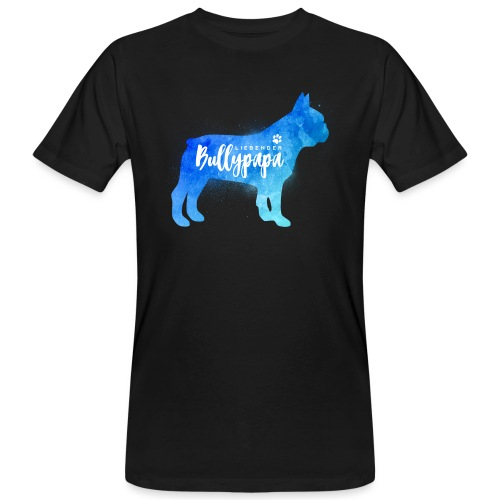 Liebender Bullypapa - Französische Bulldogge - Männer Bio-T-Shirt