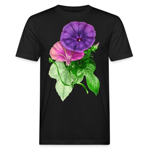 vintage mallow flower - Camiseta ecológica hombre