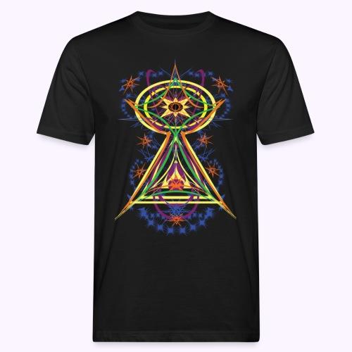 All Seeing Eye Full Color - Miesten luonnonmukainen t-paita
