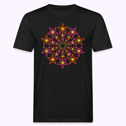 fractal estrella 3 color neón - Camiseta ecológica hombre