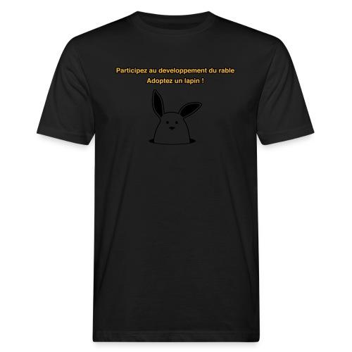 adoptez un lapin ! - T-shirt bio Homme