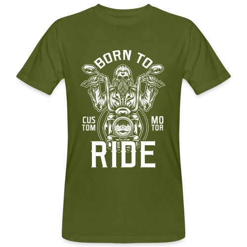 Born To Ride Black Tazzum - Camiseta ecológica hombre