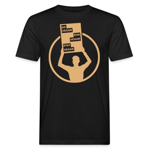 Go Run Stay Vegan - Men's Organic T-Shirt