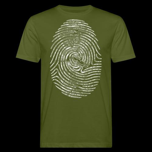 Tintenfisch Fingerabdruck weiss - Männer Bio-T-Shirt