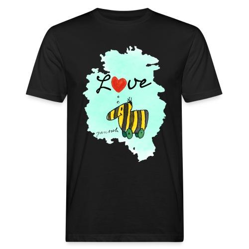 Janosch Verliebte Tigerente Herz Love - Männer Bio-T-Shirt