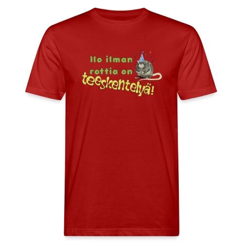 Ilo ilman rottia - kuvallinen - Miesten luonnonmukainen t-paita