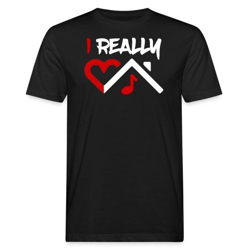 I Really Heart House Music - Men's Organic T-Shirt