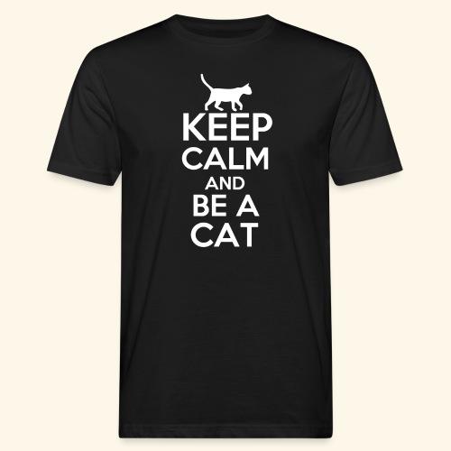 Keep Calm Katzen T-Shirt Englisch - Männer Bio-T-Shirt