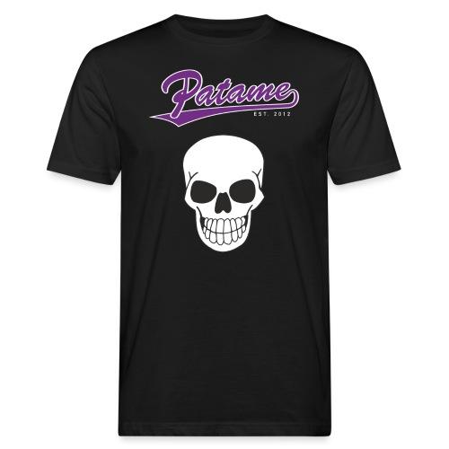 Patame Purple White Skull - Männer Bio-T-Shirt
