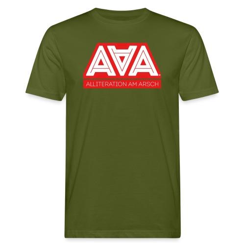 Alliteration Am Arsch - Männer Bio-T-Shirt