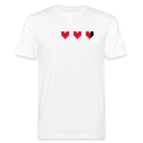 I pixelhearts you - Mannen Bio-T-shirt