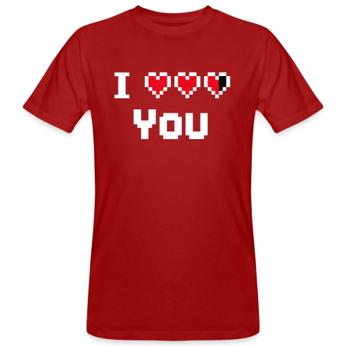 I pixelhearts you - Mannen Bio-T-shirt