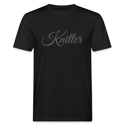 Knitter, dark gray - Men's Organic T-Shirt