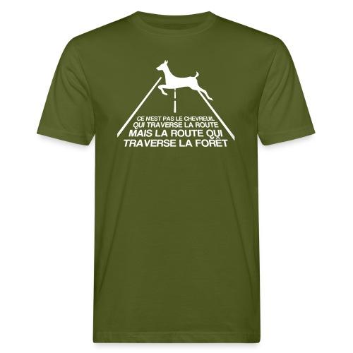 Chevreuil blanc - T-shirt bio Homme