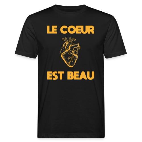 Le coeur est beau - Männer Bio-T-Shirt