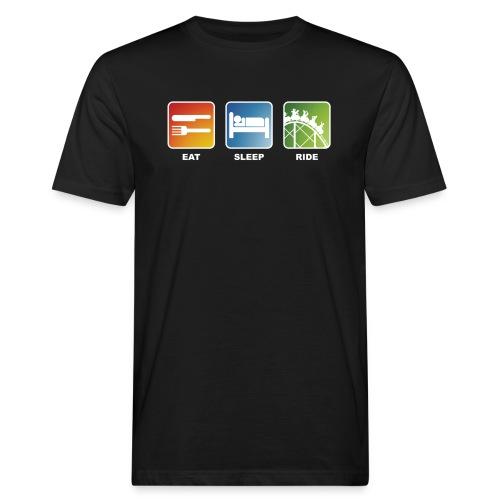 Eat, Sleep, Ride! - T-Shirt Schwarz - Männer Bio-T-Shirt