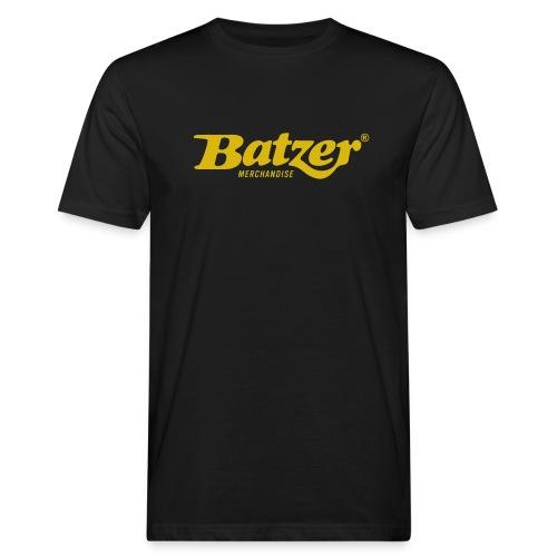 Batzer Logo GEEL - Mannen Bio-T-shirt