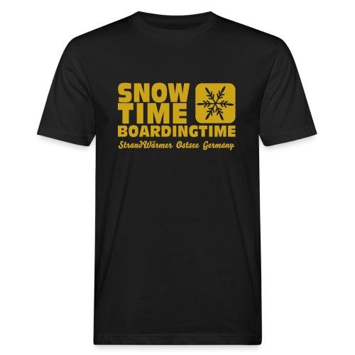 StrandWärmer_SnowTime_gold - Männer Bio-T-Shirt