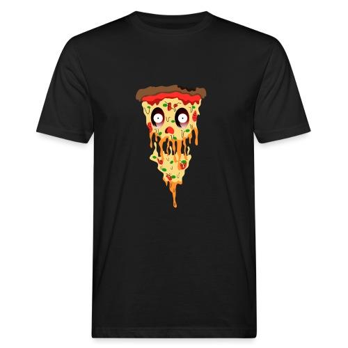Schockierte Horror Pizza - Männer Bio-T-Shirt
