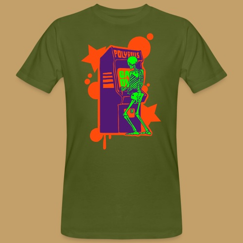 Hi-Score: Crazy Neon - Ekologiczna koszulka męska