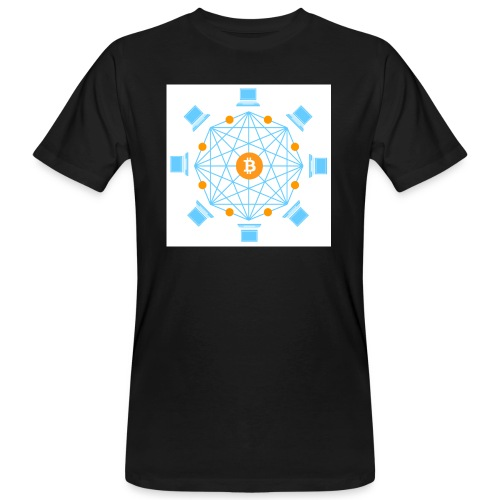 Blockchain - Miesten luonnonmukainen t-paita