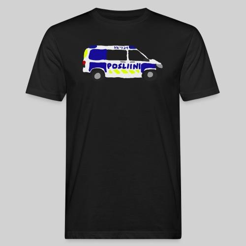 Posliini-Auto - Miesten luonnonmukainen t-paita