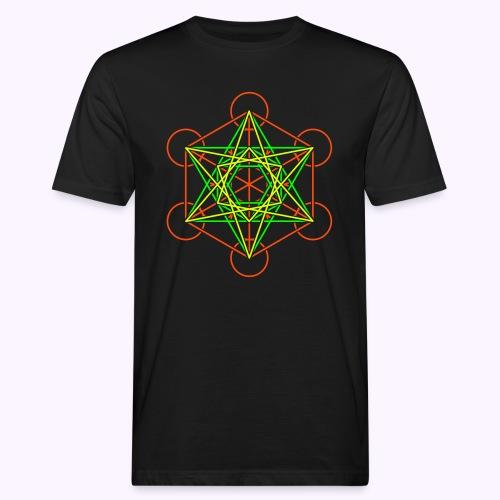 Metatron Cube 2 Color - Camiseta ecológica hombre