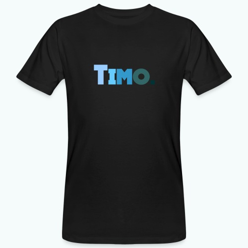 Timo in blauwe tinten - Mannen Bio-T-shirt